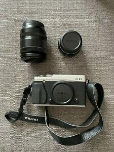 Fujifilm X-E1 Mirrorless + lens 18.55mm + lens 27mm