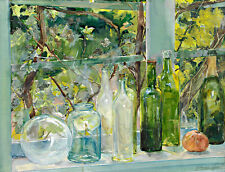 Windowsill with Bottles by Menso Kamerlingh Onnes A1+ High Quality Canvas Print