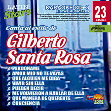Karaoke Latin Stars 23 Gilberto Santa Rosa Vol. 1