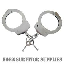 VIPER HEAVY DUTY HANDCUFFS - Double Locking Police Security Hand Cuffs Key Lock
