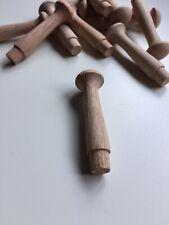 10 Oak Shaker Peg (Medium) Oak Coat Pegs, Coat Hooks, Oak Mug Pegs, Oak Cup Pegs