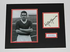 WILF McGUINNESS Manchester United Busby Babe HAND SIGNED Photo Mount + COA Proof