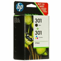 Genuine Original HP 301 Black & Colour Ink Cartridge For Deskjet 1050A Printer