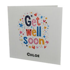 Handmade PERSONALISED Get Well Soon Card
