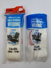 Re-Web-It Kits 32 ft  White Lawnchair 1 Opened Pkg & 1 Sealed Package Frost King