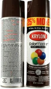 2 Count Krylon Color Master Paint And Primer In One Gloss Leather Brown 15 Fl oz