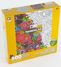YL KARMIN® 500pc COLOR•A•PUZZLE Adult MANDALAS Coloring PUZZLE Jig Saw 500 PC