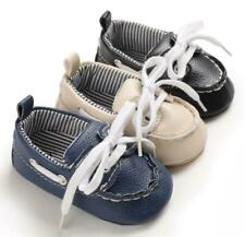 Baby Boys Crib Shoes Toddler Casual Shoes Child Faux Leather First Step Trainers