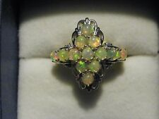 Ethiopian Welo Opal ring (1.73 ct) in Platinum over 925 Sterling sz 6