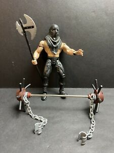 Lex Luger Torture Ring Masters WCW Toybiz 1998 Rare Figure Mask Axe Cuffs