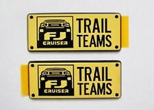 2007-2015 Toyota FJ Cruiser NEW FACTORY Trail Teams Decals Emblems-PAIR