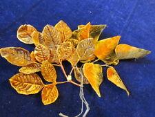 """Vintage Velvet Millinery Flower Collection 1 1/ 2-3""""  Brown Orange Japan H2237"""
