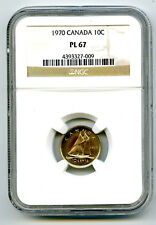 1970 CANADA DIME 10 CENT NGC PL67 PROOF LIKE RARE HIGHEST GRADE TOP POP ONLY 3