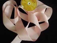 """Vintage French All Rayon Pink Ribbon 1.5"""" wide sold by the Yd"""