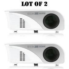 "Lot of 2) Pyle PRJG95 Digital Multimedia HD 1080p Projector, 120"" Display Screen"