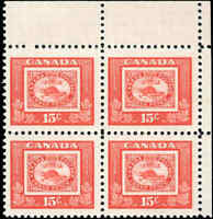 Canada Mint NH F-VF Scott #314 15c 1951 Block of 4 Stamps