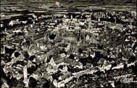Rothenburg ob der Tauber AK ~1950/60 Panorama Luftbild Stadt Wohnhäuser Häuser