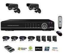 Kit de video surveillance enregistreur numérique IP 4voies + 2 caméras 800tvl
