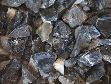 2 lb OBSIDIAN Volcanic Glass Rough Rock  Stones Tumbler tumbling LAPIDARY