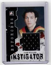 TIGER WILLIAMS 10/11 ITG Enforcers Instigator Jersey I-59 Game-Used Canucks Card