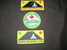 CJ' 85 Scouts Canada Jamboree Patch & Ontario Contingent Patches    c12