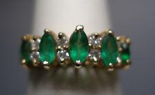 MARCA NEW 14 Quilates Oro Amarillo Original Esmeralda & Diamante