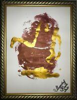 ORIGINAL Malerei PAINTING abstract abstrakt lanscape landschaft gold zeichnung 4