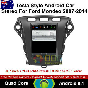 "9.7"" Android 8.1 Car non dvd Player Tesla Style GPS For Ford Mondeo 2007-2014"