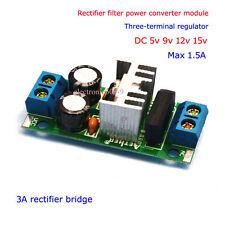 Aire Acondicionado/CC a 5V-15V Convertidor De Voltaje De Filtro Rectificador Regulador Módulo de Fuente de alimentación