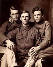 Vintage photo print rare 8x10 MALE Gay interest soldiers WWI  BUY 2, GET 1 FREE