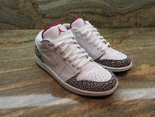 2006 Nike Air Jordan 1 Retro Low Phat OG SZ 9 White Cement JTH Fire 350571-161