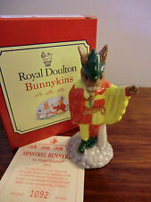 "ROYAL DOULTON BUNNYKINS ""MINSTREL"" DB211 BOXED WITH CERTIFICATE #1092 OF 2500"