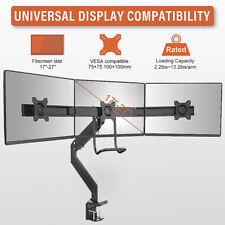 "Aluminium Triple Monitor Three Arm Desk Mount Bracket for 17-27"" Screens UK"