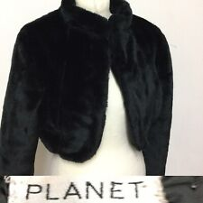 Black Faux Fur Bolero By Planet Size Approx 10-12 Evenings Parties