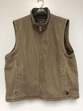 Men's Woolrich Dark Wheat Canvas Barn Vest Flannel Lining XL