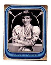 Claudette Colbert 1936 Caid Film Star Cigarette Card #46