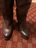 FRYE Womens Brown Knee High Heeled Pull On Leather Boots Size 8B