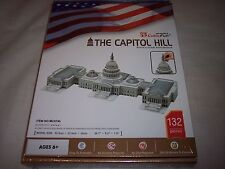"The Capitol Hill Washington USA 3D Puzzle. 20.7"" x 9.3"" x 7.9"" Ages 6+"