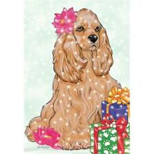 Pipsqueak Productions C917 Holiday Boxed Cards- Cocker Spaniel American Buff