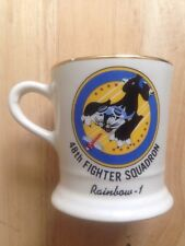 1970s 48TH FIGHTER SQUADRON UNITED STATES AIR FORCE COFFEE MUG, RAINBOW 1