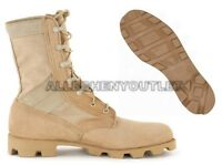 US Military COMBAT JUNGLE BOOTS Panama SPEEDLACE Hot Weather Desert Tan NEW 5 XW