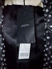 joseph black leather crystal covered ladies size12 jacket B/N n/worn