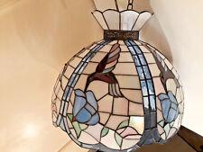 Tiffany Lampe Kolibri mit Barockverzierung Patina ca 40 cm aufwendig verarbeitet