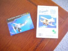 METAL MODEL AIRPLANE & LEGENDS OF THE AIR WOODEN BOTH NEW IN BOX VINTAGE