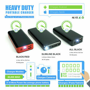 🇬🇧Heavy Duty 30000MAH - Charger Power Pack for Phone/Tablet/Camera/& Devices