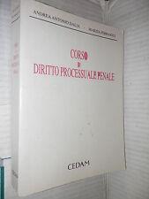 CORSO DI DIRITTO PROCESSUALE PENALE Antonio Ferraioli Cedam 1992 libro manuale