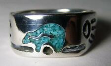 Quality NATIVE BEAR DESIGN BIKER RING #BR78R  jewelry unisex MENS NEW bears claw