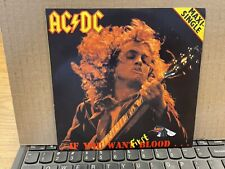 "AC/DC If You Want First Blood 7"" Red Vinyl 2 song single LTD to 300 copies NM/EX"