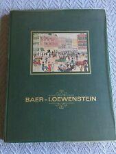 Baer - Loewenstein, Charleston/West Virginia Genealogy, Howard Baer, Hardcover