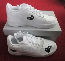 BRAND NEW WITH BOX NIKE AIR FORCE 1 GS TRAINERS UK SIZE 6 IN WHITE CUSTOME MADE